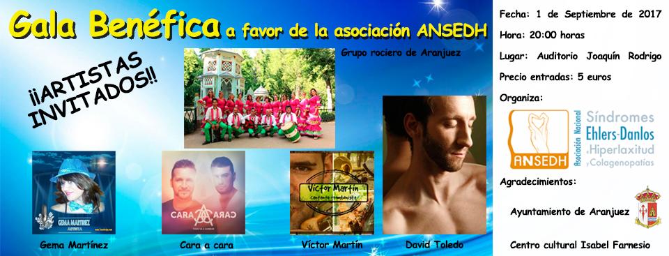 Gala benéfica a favor de ANSEDH en Aranjuez