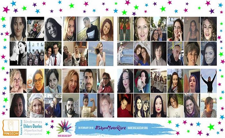 Collage ANSEDH para el día mundial de las enfermeades raras