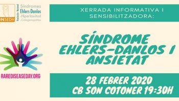 Enlace permanente a:CHARLA INFORMATIVA Y SENSIBILIZADORA.    El Síndrome de Ehlers-Danlos y la Ansiedad.