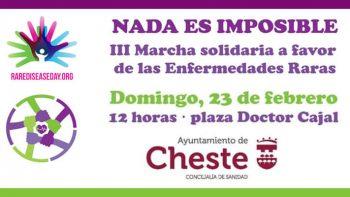 Enlace permanente a:NADA ES IMPOSIBLE. III Marcha solidaria favor de las Enfermedades Raras. Ayuntamiento de Cheste.
