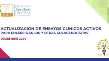 Enlace permanente a:Actualización de Ensayos Clínicos activos para Ehlers-Danlos y otras colagenopatías